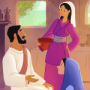Mary and Martha—Bible Story Teaching Picture