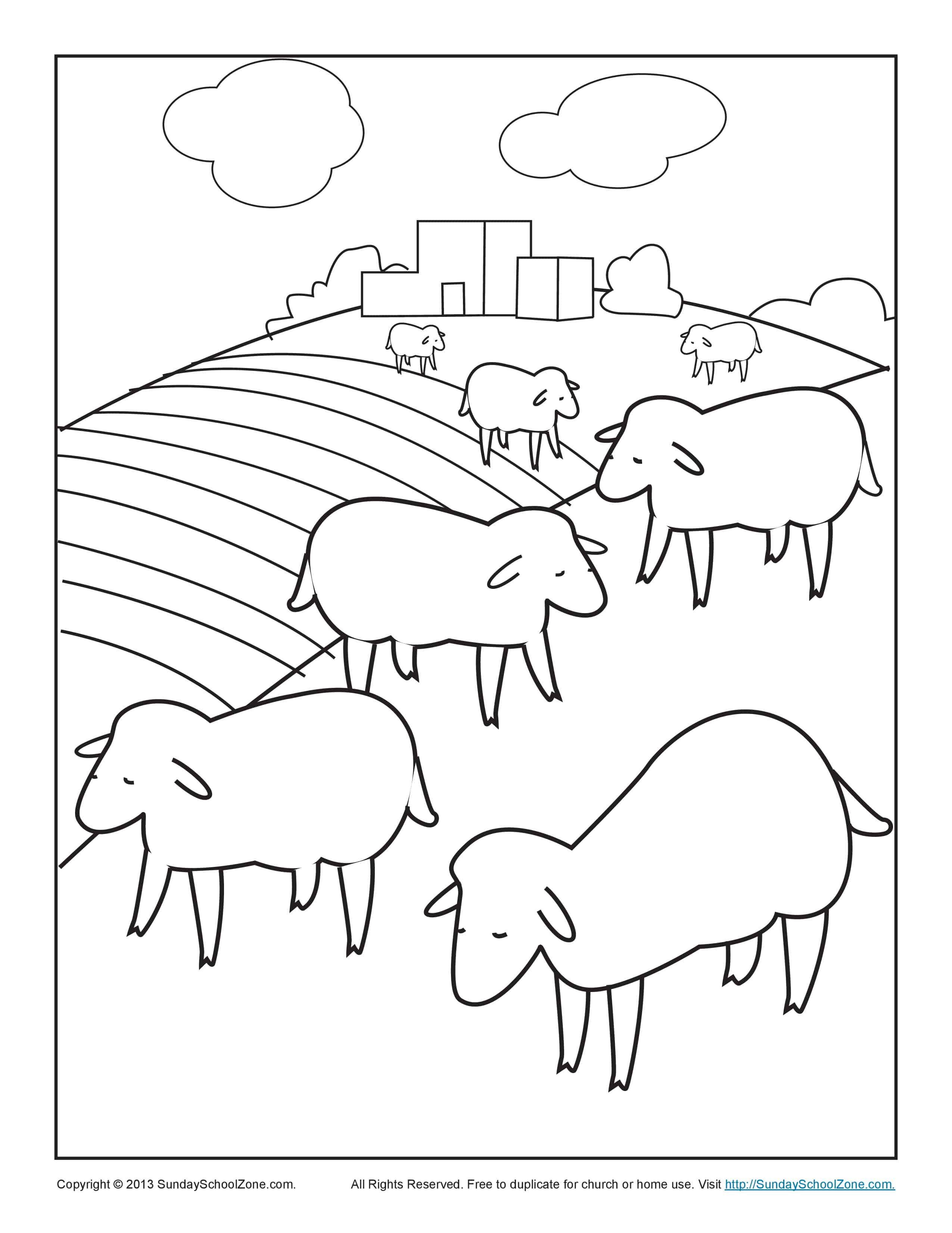 Bible Coloring Pages For Kids The Lost Sheep The Lost Sheep Coloring Pages